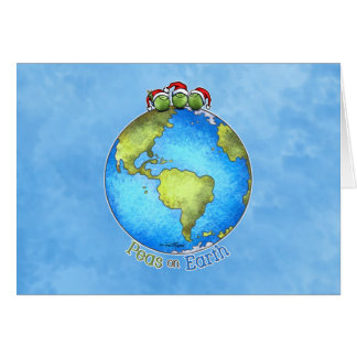 Peas On Earth Greeting Cards | Zazzle