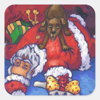 Christmas Wish Square Sticker