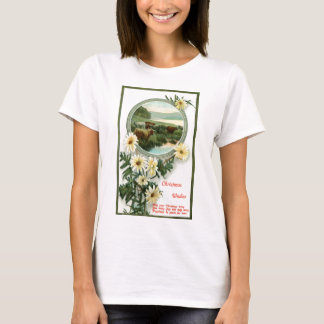 Christmas Wishes and cattle scene T-Shirt