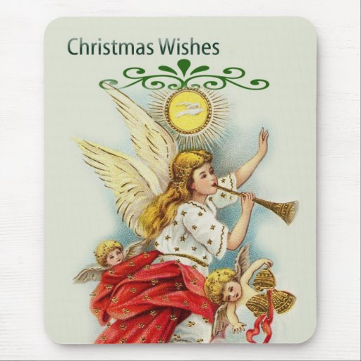 Christmas wishes angels mousepad