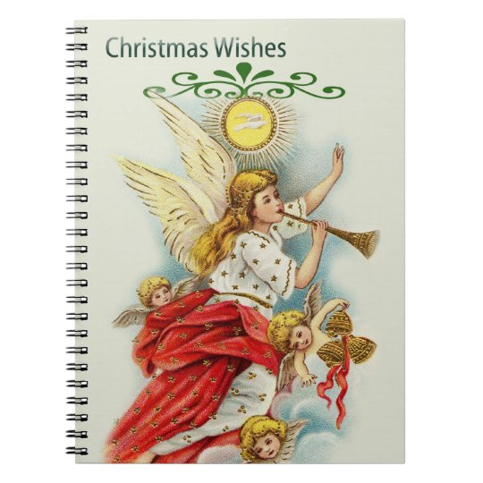 Christmas wishes angels notebook