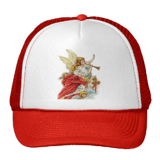 Christmas wishes angels trucker hat