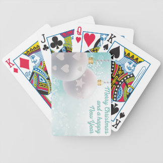 Christmas wishes bicycle playing cards