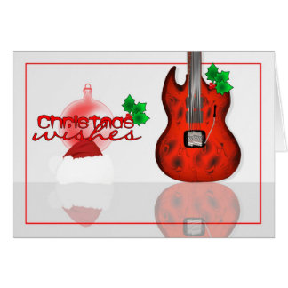 Christmas wishes card with Guitar