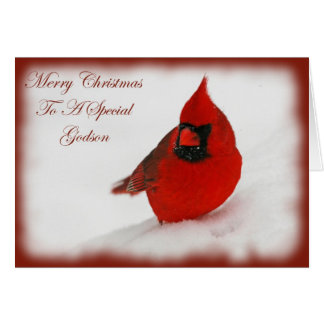 Christmas Wishes Cardinal Godson Card