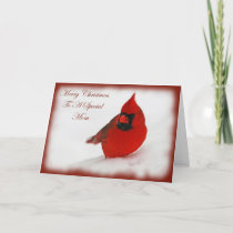 Christmas Wishes Cardinal Mom Holiday Card