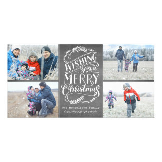 Christmas Wishes Collection 4 Photo Chalk Holiday Card