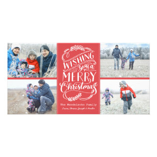 Christmas Wishes Collection 4 Photo Holiday Photo Card