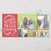 Christmas Wishes Collection 5 Photo Holiday Card