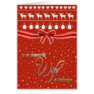 Christmas wishes for my wonderful wife card