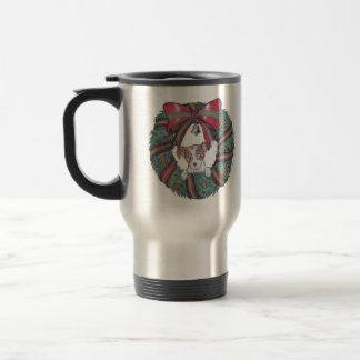 Christmas wishes from little puppy travel mug