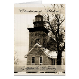 Christmas Wishes Godfather & Family Greeting Card