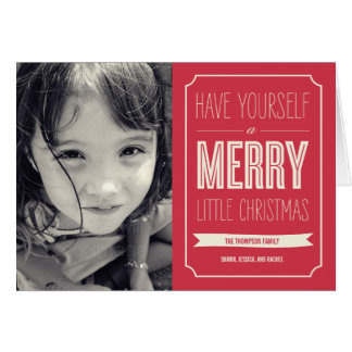 Christmas Wishes Holiday Photo Card Cards