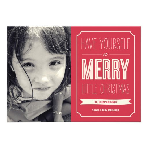 Christmas Wishes Holiday Photo Cards