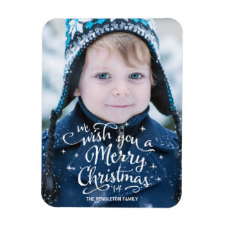 Christmas Wishes | Holiday Photo Magnet