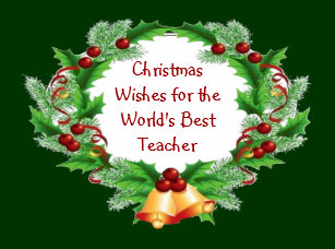 Teacher Christmas Wishes Gifts on Zazzle