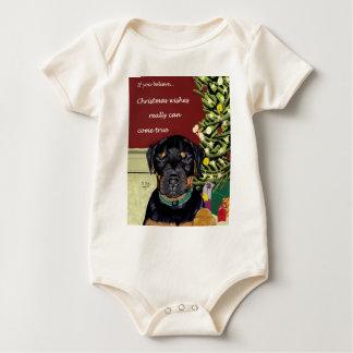 Christmas Wishes organic infantwear Baby Bodysuit
