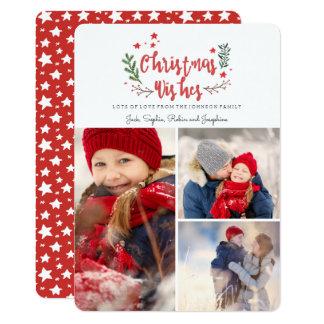 Christmas Wishes | Pine Tree | 3 Photos Card