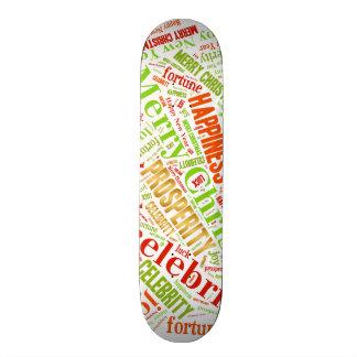 Christmas wishes skateboard