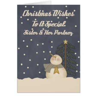Christmas Wishes To A Special Sister & Partner Card