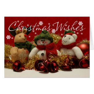 Christmas Wishes Tree Ornaments With Tinsel Card