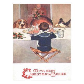 Christmas Wishes Vintage 1906 Christmas Postcard