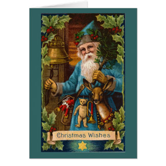 Christmas Wishes Vintage Holiday Art Card