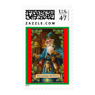 Christmas Wishes Vintage Holiday Art Postage