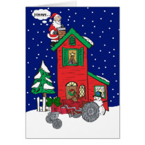 Christmas Wishes Vintage Tractor Card