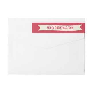 Christmas Wishes Wraparound Address Label
