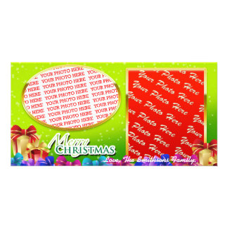 Christmas Wishings on a Double Photo Photo Cards