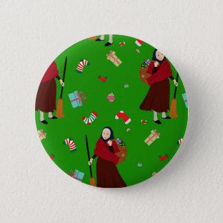 christmas witch Befana Pinback Button