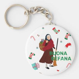 christmas Witch buona Befana Keychain