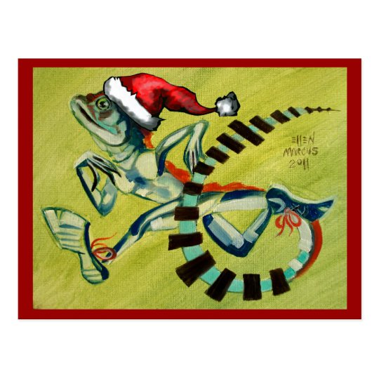 Christmas with Basilisk Postcard