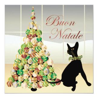 """Christmas with Bella Italian Card/Invitation 5.25"""" Square Invitation Card"""
