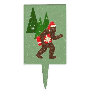 """""""Christmas with Bigfoot"""" Cake Topper"""