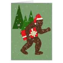 """Christmas with Bigfoot"" Card"