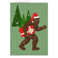 """christmas With Bigfoot"" Card at Zazzle"