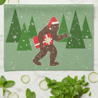 """""""Christmas with Bigfoot"""" Hand Towel"""