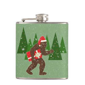 """""""Christmas with Bigfoot"""" Hip Flask"""