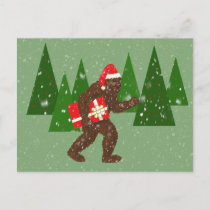 """Christmas with Bigfoot"" Holiday Postcard"