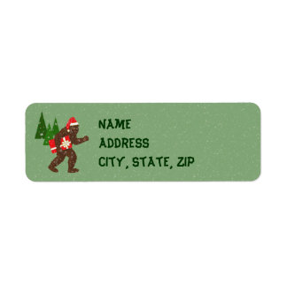 """""""Christmas with Bigfoot"""" Labels"""