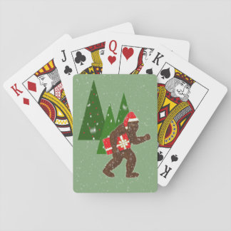 """Christmas with Bigfoot"" Playing Cards"