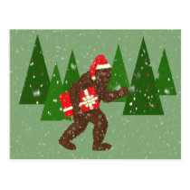 """Christmas with Bigfoot"" Postcard"