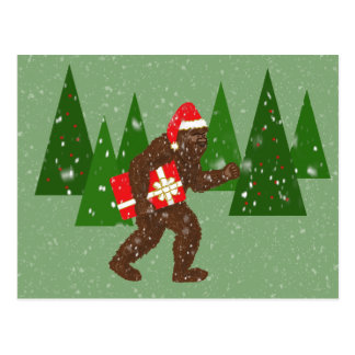"""""""Christmas with Bigfoot"""" Postcard"""