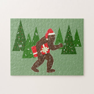 """""""Christmas with Bigfoot"""" Jigsaw Puzzles"""