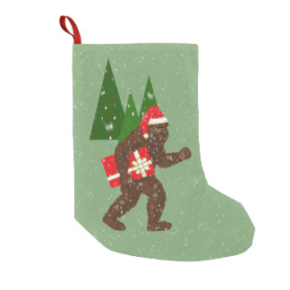 """Christmas with Bigfoot"" Small Christmas Stocking"