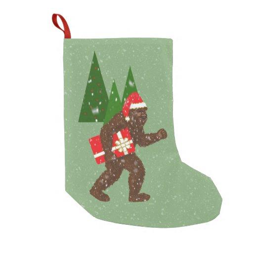 """""""Christmas with Bigfoot"""" Small Christmas Stocking"""