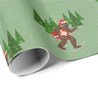 """""""Christmas with Bigfoot"""" Gift Wrap Paper"""