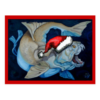 Christmas with Dunkleosteus Postcard